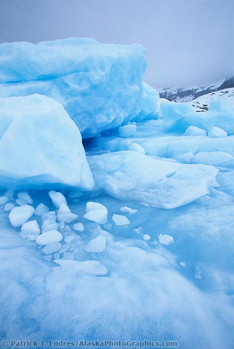Glacier iceberg, Nellie Juan Lagoon, Prince William Sound, Alaska.