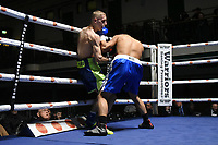 Frank Arnold (green shorts) defeats Johnson Tellez during a Boxing Show at York Hall on 15th February 2020