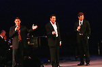 Kevin Spirtas, Matt Farnsworth, Brian Lane Green (The Broadway Tenors) perform at the Broadway For A New America presented by the Jewish Alliance for Change on April 13, 2009 at the Peter Norton Symphony Space, NYC. (Photo by Sue Coflin/Max Photos)