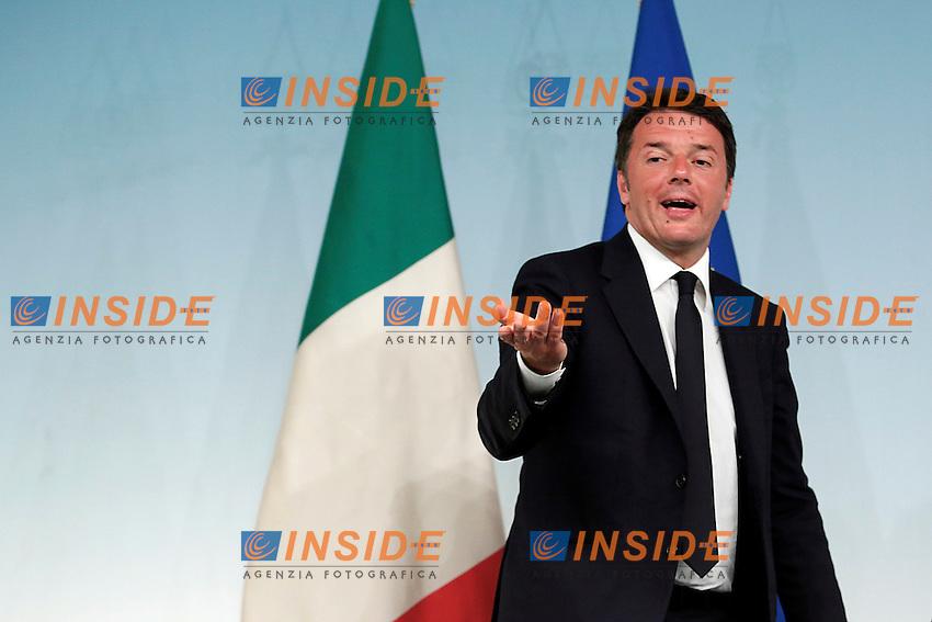 Matteo Renzi<br /> Roma 15-06-2016  Palazzo Chigi. Consiglio dei Ministri, CDM.<br /> Rome 15th June 2016. Press conference at the end of Minister's cabinet<br /> Photo Samantha Zucchi Insidefoto