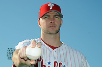 Feb 20, 2009; Clearwater, FL, USA; The Philadelphia Phillies pitcher Ryan Madison (46) during photoday at Bright House Field. Mandatory Credit: Tomasso De Rosa/ Four Seam Images