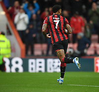 2nd November 2019; Vitality Stadium, Bournemouth, Dorset, England; English Premier League Football, Bournemouth Athletic versus Manchester United; Joshua King of Bournemouth celebrates scoring the first goal in the 40th minute - Strictly Editorial Use Only. No use with unauthorized audio, video, data, fixture lists, club/league logos or 'live' services. Online in-match use limited to 120 images, no video emulation. No use in betting, games or single club/league/player publications