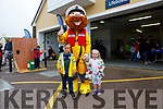 Tadhg & Amber Nugent with Stormy Stan at the Valentia RNLI Open Day on Sunday.
