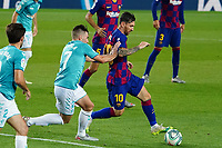 16th July 2020; Camp Nou, Barcelona, Catalonia, Spain; La Liga Football, Barcelona versus Osasuna;  Leo Messi goes past the challenge from Moncayola of Osasuna