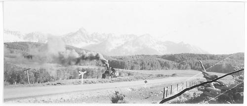 Mudhen near road crossing near Peake, Co.<br /> RGS  Peake, CO  Taken by Swansick, - 1948-1949