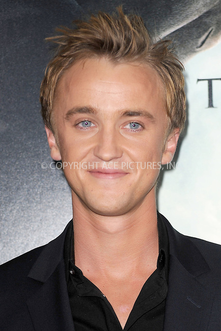 WWW.ACEPIXS.COM . . . . . .November 15, 2010...New York City...Tom Felton attends the Premiere of Harry Potter And The Deathly Hallows: Part 1 at Alice Tully Hall on November 15, 2010 in New York City....Please byline: KRISTIN CALLAHAN - ACEPIXS.COM.. . . . . . ..Ace Pictures, Inc: ..tel: (212) 243 8787 or (646) 769 0430..e-mail: info@acepixs.com..web: http://www.acepixs.com .
