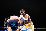 Las Vegas 02-13-2020: Reid Promotions hosts its inaugural profesional Boxing event at the Westgate Hotel Casino in Las Vegas photo: BRITTON NORWOOD (gold Trunks) defeats ANDREI ODINTSEV