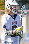 Manhattan Beach, CA 02-11-17 - Connor Glafkides (Loyola Marymount #9) in action during the MCLA non-conference game between LMU (SLC) and Santa Clara (WCLL).  Santa Clara defeated LMU 18-3.
