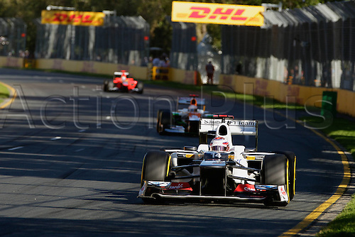 18.03.2012. Melbourne, Australia.   Kamui Kobayashi F1 clean GP Australia 2012 Formula 1 Grand Prix Australia Jenson Button won the race with Sebbastian Vettel in second and Lewis Hamilton in third place.