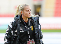 20160408 - ROTHERHAM , ENGLAND : Belgian Tine Schryvers pictured during the female soccer game between England and The Belgian Red Flames - Belgium , the fourth game in the qualification for the European Championship in The Netherlands 2017  , Friday 8 th April 2016 at AESSEAL New York Stadium in Rotherham , England . PHOTO DAVID CATRY