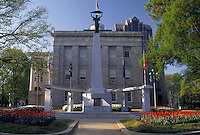 North Carolina, State Capitol, Raleigh, NC, State House, World War II Memorial outside the North Carolina State Capitol in Raleigh.