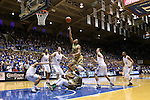 16 January 2016: Notre Dame's Bonzie Colson (35) shoots the ball. The Duke University Blue Devils hosted the University of Notre Dame Fighting Irish at Cameron Indoor Stadium in Durham, North Carolina in a 2015-16 NCAA Division I Men's Basketball game. Notre Dame won the game 95-91.