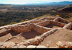 Southern Rooms from Citadel, Verde Valley, Cottonwood and Mt. Mingus, Tuzigoot Sinagua Pueblo, Tuzigoot National Monument, Verde Valley, Arizona