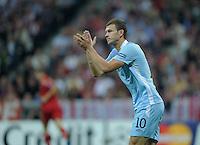 FUSSBALL   CHAMPIONS LEAGUE   SAISON 2011/2012     27.09.2011 FC Bayern Muenchen - Manchester City Edin Dzeko (Manchester City)