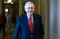 United States Senate Majority Leader Mitch McConnell (Republican of Kentucky) walks from the US Senate Chamber to his office after a procedural vote to move forward with voting on the Republican proposed tax reform bill in the United States Capitol in Washington, D.C. on Friday, December 1, 2017. <br /> Credit: Alex Edelman / CNP /MediaPunch