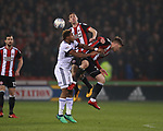 during the championship match at the Bramall Lane Stadium, Sheffield. Picture date 10th April 2018. Picture credit should read: Simon Bellis/Sportimage