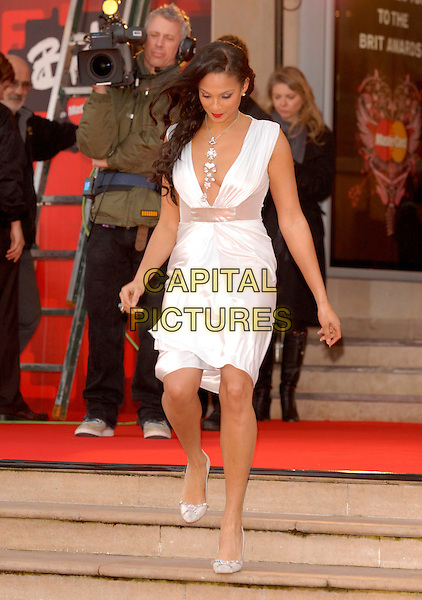 """Picture:Steve Finn.07968894444.Picture Shows  Alecia Dixon arriving at the 2007""""Brit Awards"""" Earls Court,London Today.14/02/07.."""