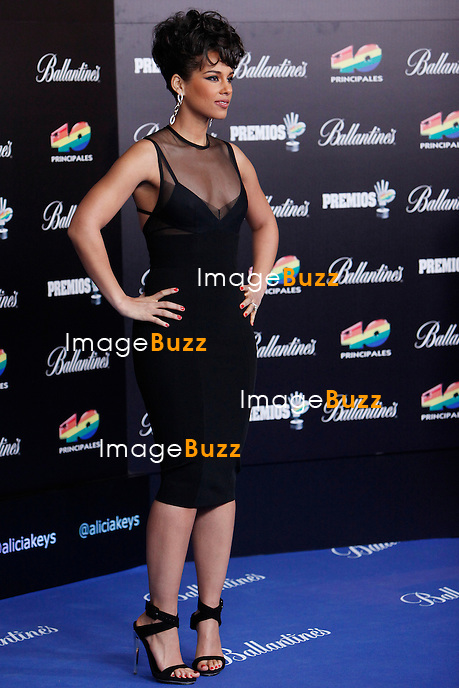 "Alicia Keys attends the "" 40 Principales Awards "" at Palacio de los Deportes in Madrid, Spain. January 24, 2013. ......."