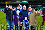 Paul Murphy, Denis Daly, Linda Murphy, Brendan Casey, Junior Murphy and Sean Ryan, pictured at the football intermediate club championship semi-final, at the Gaelic Grounds, Limerick on Sunday last.