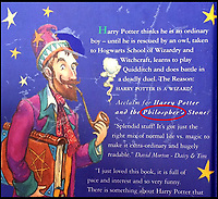 BNPS.co.uk (01202 558833)<br /> Pic: BNPS<br /> <br /> The first edition had Philosopher's spelt incorrectly on the back cover. <br /> <br /> A Harry Potter first edition inscribed by JK Rowling to the first person 'to see merit' in the boy wizard has emerged for sale for £90,000.<br /> <br /> The author, then unknown and unpublished, sent a manuscript with the first three chapters of The Philosopher's Stone to literary agent Christopher Little in 1995.<br /> <br /> However, since the agent had not previously handled children's literature, it was destined for the bin.<br /> <br /> But office manager Byrony Evens, intrigued by the manuscript's distinctive black folder, picked it up from the pile and read through it. Captivated by its contents, she suggested to Little they request the rest of the story from Rowling.<br /> <br /> From there, the Harry Potter phenomenon was born which has spawned seven books, films and theme parks - giving Rowling an estimated net worth of £750million. Now, Evens is selling the first edition - of which just 500 were printed - with auctioneer Bonhams, of London.