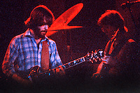 Bob Weir and Phil Lesh performing with The Grateful Dead. Live in Concert at The Springfield Civic Center on 23 April 1977