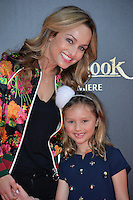 LOS ANGELES, CA. April 4, 2016. TV chef Giada De Laurentiis &amp; daughter at the world premiere of &quot;The Jungle Book&quot; at the El Capitan Theatre, Hollywood.<br /> Picture: Paul Smith / Featureflash