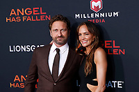 "LOS ANGELES - AUG 21:  Gerard Butler, Morgan Brown at the ""Angel Has Fallen"" Premiere at the Village Theater on August 21, 2019 in Westwood, CA"