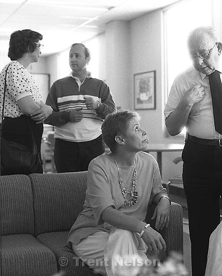 Delores Nelson, Steve Nelson, Linda Clark, Torvall Nelson at the hospital when Nana was sick.<br />