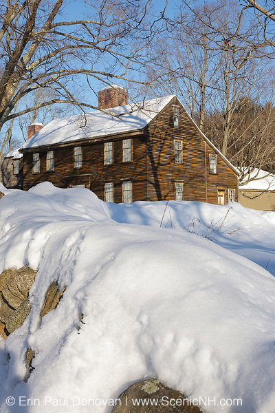 Minute Man National Historical Park...Hartwell Tavern, which is a restored 18th century tavern along the Battle Road Trail during the winter months. Located in Lincoln, Massachusetts USA