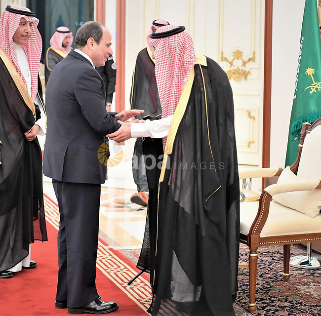 President of Egypt Abdel Fattah el-Sisi greets Saudi Arabia's King Salman bin Abdulaziz al-Saud ahead of the 14th Islamic Summit of the Organization of Islamic Cooperation (OIC) in Mecca, Saudi Arabia on June 1, 2019. Photo by Egyptian President Office