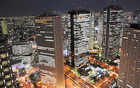 "The ""skyscraper district"" in Shinjuku, Tokyo.<br /> <br /> Richard Jones  /  Sinopix"
