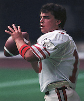 Greg Vavra Calgary Stampeders quarterback 1985 Copyright photograph Scott Grant