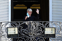 Annamaria Furlan, secretary of CISL, from the balcony of the Casina del buon respiro, inside Villa Pamphilj, where the Italian Premier convened the States General of Economy. The summit was strictly behind closed doors and the press was kept outside. Rome (Italy), June 15th 2020<br /> <br /> <br /> <br /> Samantha Zucchi Insidefoto