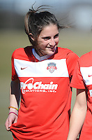 Boyds, Maryland - March 15, 2014. Jodie Taylor of the Washington Spirit. The Washington Spirit during the Meet the Team at the Maryland SoccerPlex.