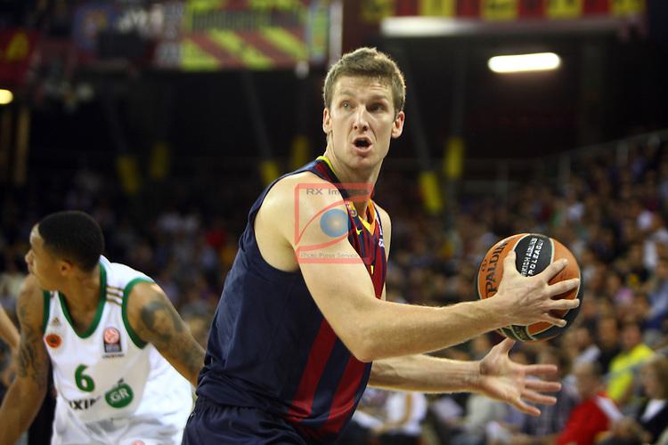 Euroleague Basketball-Regular Season Round 5.<br /> FC Barcelona vs Panathinaikos Athens: 78-69.<br /> Justin Doellman.