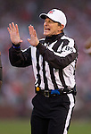 NFL Official Ed Hochuli (85) looks on during the San Francisco 49ers NFC Championship NFL football game against the New York Giants on January 22, 2012 in San Francisco, California. The Giants won 20-17 in overtime. (AP Photo/David Stluka)