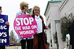 "1/22/13/  Jackson MS -Pictured is Jackson Women's Clinic owner Diane Derzis outside her clinic on the 40th Anniversary of Roe-v-Wade. Governor Bryant is attempting to close the clinic by making strict laws for the clinic and having the doctors have admitting privileges at local hospitals. The clinic is unable to comply with State law and is fighting to stay open. Governor Phil Bryant joins the PLAN (Pro Life America Network) and speaks at the Mississippi State capital in support of his Pro Life agenda on the 40th Anniversary of Roe-v-Wade. Governor Bryant asked  for people to ""pray for the unborn babies"" and Bryant is pushing hard to close the States only operating Abortion Clinic. Photo© Suzi Altman 1/22/13/  Jackson MS -Pictured  with Pro Choice supporters outside her Jackson Women's Health Organization, Diane Derzis waits to hear form the Mississippi State Health Department regarding compliance with state law on the 40th Anniversary of Roe-v-Wade. Governor Phil Bryant joins the PLAN (Pro Life America Network) and speaks at the Mississippi State capital in support of his Pro Life agenda on the 40th Anniversary of Roe-v-Wade. Governor Bryant asked  for people to ""pray for the unborn babies"" and Bryant is pushing hard to close the States only operating Abortion Clinic. Photo© Suzi Altman"