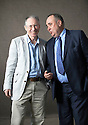 Ian McEwan author   and writer  with Alex Salmond, The First Minister of Scotland  at The Edinburgh International Book Festival   . Credit Geraint Lewis