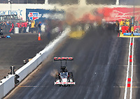 Feb 24, 2019; Chandler, AZ, USA; NHRA top fuel driver Billy Torrence during the Arizona Nationals at Wild Horse Pass Motorsports Park. Mandatory Credit: Mark J. Rebilas-USA TODAY Sports