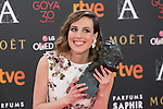 Natalia de Molina poses with Best Actress Goya award during 30th Goya Awards ceremony in Madrid, Spain. February 06, 2016. (ALTERPHOTOS/Victor Blanco)