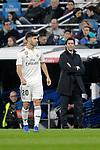 Real Madrid's Marco Asensio and coach Santiago Solari during La Liga match. December,15,2018. (ALTERPHOTOS/Alconada)