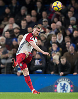 Chris Brunt of WBA during the Premier League match between Chelsea and West Bromwich Albion at Stamford Bridge, London, England on 12 February 2018. Photo by Andy Rowland.