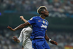 Juventus´s Pogba during the Champions League semi final soccer match between Real Madrid and Juventus at Santiago Bernabeu stadium in Madrid, Spain. May 13, 2015. (ALTERPHOTOS/Victor Blanco)