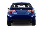 Straight rear view of 2016 Toyota Corolla S Premium 4 Door Sedan Rear View  stock images