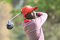 Ooko Erick Obura (KEN) in action on 1st tee during the second round of the Magical Kenya Open presented by ABSA played at Karen Country Club, Nairobi, Kenya. 15/03/2019<br /> Picture: Golffile | Phil Inglis<br /> <br /> <br /> All photo usage must carry mandatory copyright credit (&copy; Golffile | Phil Inglis)