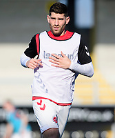 Fleetwood Town's Ched Evans during the pre-match warm-up<br /> <br /> Photographer Chris Vaughan/CameraSport<br /> <br /> The EFL Sky Bet League One - Saturday 23rd February 2019 - Burton Albion v Fleetwood Town - Pirelli Stadium - Burton upon Trent<br /> <br /> World Copyright © 2019 CameraSport. All rights reserved. 43 Linden Ave. Countesthorpe. Leicester. England. LE8 5PG - Tel: +44 (0) 116 277 4147 - admin@camerasport.com - www.camerasport.com