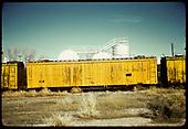 Old refrigerator car #166, at Alamosa<br /> D&amp;RGW  Alamosa, CO