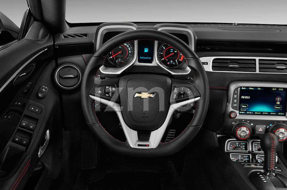 Steering wheel view of a 2013 Chevrolet Camaro Convertible ZL1 5a