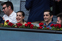 Carolina Marin and Javier Fernandez during the ATP final of Mutua Madrid Open Tennis 2017 at Caja Magica in Madrid, May 14, 2017. Spain. /NortePhoto.com