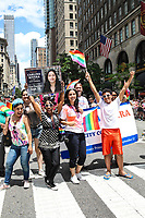 NEW YORK, EUA, 25.06.2017 - PARADA-NEW YORK - Carlina Rivera  durante a Parada do Orgulho LGBT na cidade de New York nos Estados Unidos neste domingo, 25. (Foto: Vanessa Carvalho/Brazil Photo Press)